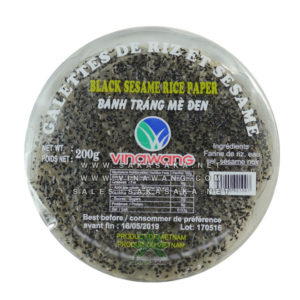 black sesame rice paper